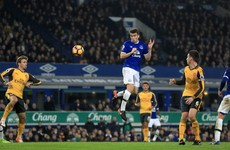 Seamus Coleman on target as Everton stun Arsenal