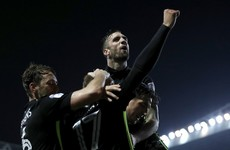 Shane Duffy finds the target on a good night for Irish defenders in the Championship