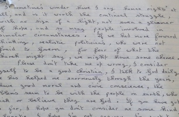 1986: Mother of four abused by husband writes letter to