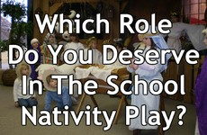 Which Role Do You Deserve In The School Nativity Play?