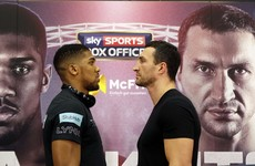 Joshua claims beating Klitschko would make him a 'legend overnight'