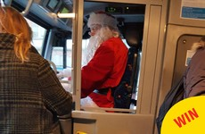 This Dublin bus driver delighted his passengers today by dressing up as Santa