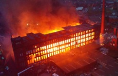 Aerial photos show scale of massive fire that gutted Manchester mill