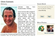 'Irishman dies from stubbornness, whiskey': This man's brilliant obituary is going viral
