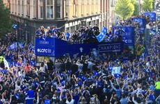 'Women wearing blue hijabs and old Caribbean guys watching the Leicester parade'