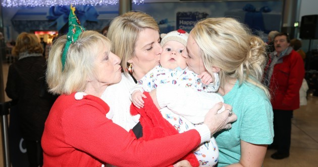 Welcome home: Families reunite for Christmas at Dublin Airport
