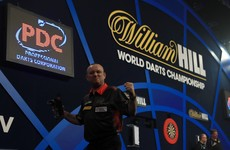 The darts had its first big shock last night