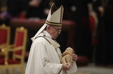 Pope Francis makes mention of abortion during Christmas message