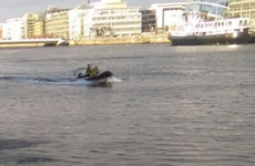 A man was rescued from the River Liffey in Dublin this morning