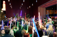 Hundreds of Star Wars fans paid tribute to Carrie Fisher with 'lightsaber vigils' last night