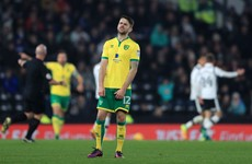 Red or not? Robbie Brady was harshly sent off for this sliding challenge earlier