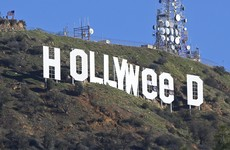 A prankster made some slight changes to the Hollywood sign overnight