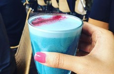 This cafe in Dublin is bringing the 'blue latte' craze to Ireland