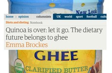 An article in The Guardian says the future belongs to ghee