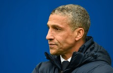 Chris Hughton rewarded with monthly gong for steering Brighton to the top of the Championship