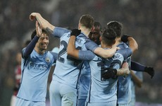 5-star Man City dump West Ham out of the FA Cup