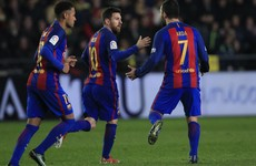 Messi rescues Barca with stunning free-kick but they lose more ground in title race