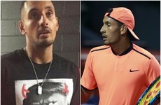 Controversial tennis star Kyrgios wore an interesting t-shirt to a press conference last night