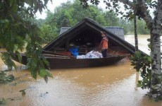 Trains come to end of the line in Vietnam floods