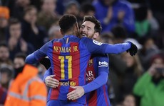 Messi magic clinches tie for Barca after Suarez opens scoring with stunning volley