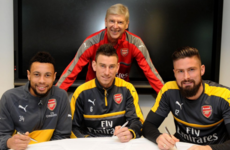 Triple boost for Arsenal as Giroud, Koscielny and Coquelin sign new contracts