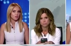 This video of two newsreaders arguing about wearing the same colour is delicously awkward