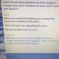 This lad was left 'shook' by a Ryanair customer service agent's sassy response