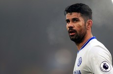 Diego Costa trains alone amid China reports