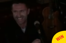 Here's Robbie Keane belting out Joxer Goes To Stuttgart in a Dublin pub
