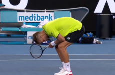 New balls please! Tennis player takes brutal smash to the groin