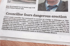 This headline about a Kildare councillor and a 'dangerous erection' is pure quality