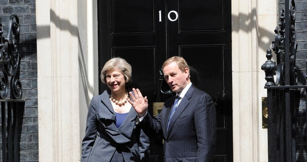 A request has been made for Theresa May to speak in the Dáil