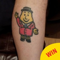 This guy's new Mr Tayto tattoo shows a serious commitment to crisps