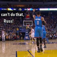 Russell Westbrook momentarily forgot the rules of basketball last night