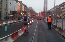 'A serious accident waiting to happen' - cyclists not happy with Luas lines on single lane O'Connell Street
