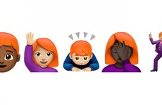Apple is finally pulling the finger out and trying to introduce emojis with red hair