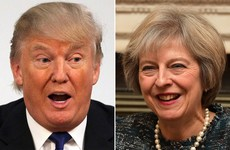 Theresa May is first in line as world leaders gear up to meet President Trump