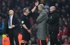 Wenger apologises for pushing fourth official after being sent to the stands