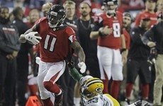 Julio Jones goes full Beast Mode for a 73-yard touchdown against the Packers