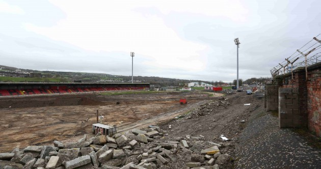 In pics: Derry to play home games in Donegal as Brandywell redevelopment begins
