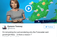 Yes, RTÉ's weather lady said 'Good night, Mary' tonight - here's why