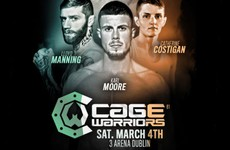 Cage Warriors confirms long-awaited Irish return after 3-year absence