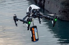 Ireland's first legit drone drop landed on a boat at the weekend