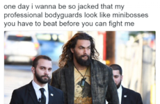 Jason Momoa's made his 'bodyguards' look slightly ridiculous .. It's The Dredge