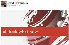 An Irishman's joke BBC breaking news ticker has become a huge meme