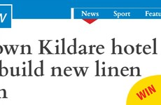 This headline from Kildare about a hotel wanting to build a new hotpress is brilliant