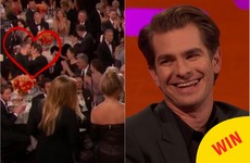 Andrew Garfield has finally explained why he shifted Ryan Reynolds at the Golden Globes