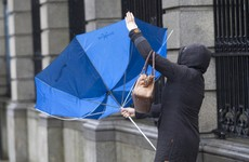 Weather warning issued as gusts of up to 100km/hr expected tomorrow