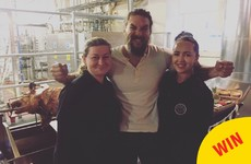 Jason Momoa went back to the Storehouse and hinted at a secret project with Guinness