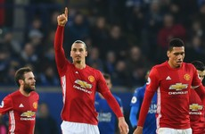 Ibrahimovic the first Man United player to reach 20 goals in a season since Fergie's retirement